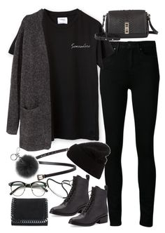 """Untitled#3693"" by fashionnfacts ❤ liked on Polyvore featuring Paige Denim, H&M, 3.1 Phillip Lim, Acne Studios, Proenza Schouler, Yves Saint Laurent, STELLA McCARTNEY, Michael Kors and Monica Vinader"