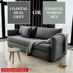 The Toke sofa bed from @InnovationTM is a Danish-designed with a more traditional sofa look is now a floor model in our furniture store in Coastal Nordic Sky. This sofa bed is also available in another color: Coastal Seal Grey. Experience the Danish sofa beds we have from Innovation Living today! #SofaBed #SleeperSofa #DanishDesign