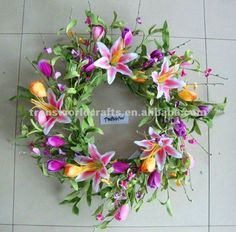 Artificial Flower Wreath for Spring