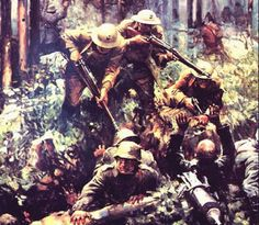 <p>United States Marines engage the Germans in Belleau Wood. By the end of 1917 and the beginning of 1918, American soldiers were moving into the front lines, and the war on the Western Front slowly began to turn against Germany and the Central Powers. The Kaiser's and Hindenburg's great gamble, to knock Russia out of the war and shift the armies to the Western Front failed. The continuous flow of American soldiers turned the tide, and the Germans suddenly realized they would have to sue for…