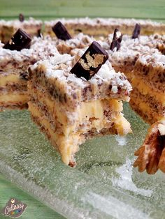 prajitura cu nuca Romanian Desserts, Tiramisu, Delicious Desserts, Waffles, French Toast, Food And Drink, Cooking Recipes, Sweets, Homemade