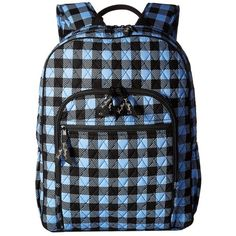 Vera Bradley Campus Backpack (Alpine Check) Backpack Bags ($109) ❤ liked on Polyvore featuring bags, backpacks, cotton bag, pattern backpack, multi color backpack, checkered backpack and day pack backpack