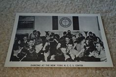 WWII Photographic Postcard, National Catholic Community Service Dance