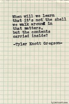 Typewriter Series #518 by Tyler Knott Gregson