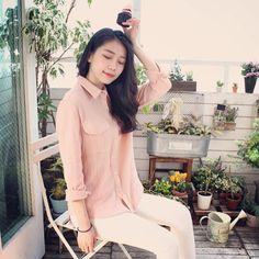 봄날에 핀 화사한 BOGI.L 데일리룩 핑크핑크한 사랑스러움이 느껴져요~ 3월에 입기 좋은 , 감성 코디~ 데이트룩 >.< 예쁜 봄옷은 '보기엘' 에서 만나보세요~