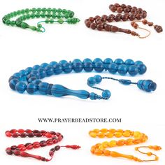 Colorful Bakelite Amber Prayer Beads #amber #prayerbeads #tasbih #misbah