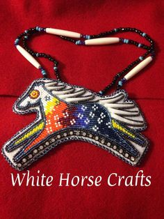 Powwow Beadwork, Native Beadwork, Native American Beadwork, Native American Jewelry, Native American Crafts, Native American Fashion, Horse Pattern, Native Design, Nativity Crafts