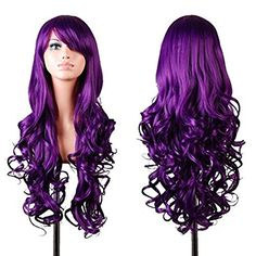 """Rbenxia Curly Cosplay Wig Long Hair Heat Resistant Spiral Costume Wigs Purple 32"""" 80cm >>> CHECK OUT ADDITIONAL DETAILS @: http://www.passion-4fashion.com/beauty/rbenxia-curly-cosplay-wig-long-hair-heat-resistant-spiral-costume-wigs-purple-32-80cm/"""