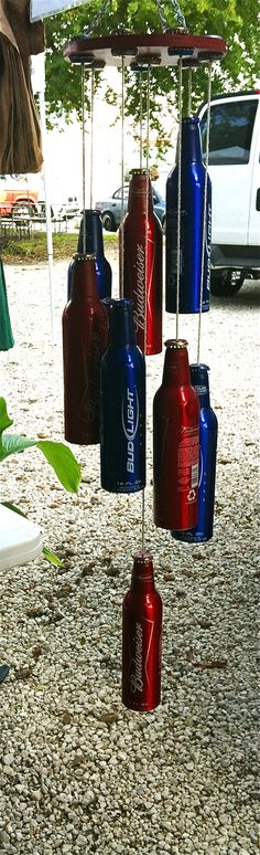Recycled Beer Bottle Wind Chime. Made by Endlessdesignby2