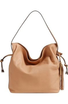 Vince Camuto Linny Nude (Light Brown) Leather Hobo Bag NWOT MSRP $278 #VinceCamuto #Hobo