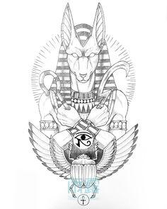 Egypt Tattoo Design, Medusa Tattoo Design, Sketch Tattoo Design, Angel Tattoo Designs, Eagle Wing Tattoos, Lion Head Tattoos, Egyptian Drawings, Egyptian Art, Owl Tattoo Drawings