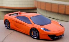 McLaren 12C Paper Car Free Vehicle Paper Model Download