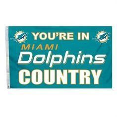 """Miami Dolphins 3' x 5' Banner Flag - """"You're In Miami Dolphins Country"""""""