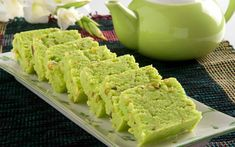 Pista Burfi Recipe (Indian Spiced Pistachio Fudge)