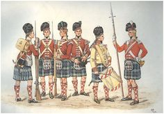The 71st (Highland) Regiment of Foot circa. 1799. For more information on Scottish Uniforms click on the link below:-