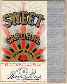 Kinney Bros.'s Mild & Extra Fine Cigarettes – Sweet Caporal