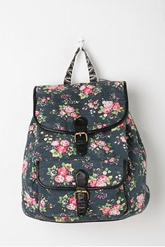 Deux Lux Floral Dot Backpack from Urban Outfitters. College Girls, College Bags, College Style, Pretty Backpacks, Cute Backpacks For School, Girly Backpacks, Floral Backpack, Backpack Purse, Fashion Backpack