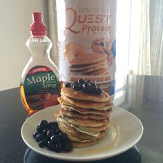 Low carb quest protein pancakes this simple base recipe could be blueberry protein pancakes 1 x scoop quest multi purpose protein powder 13 cup oats ccuart Images