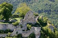 Castle ruin of Hohenurach, Bad Urach, Germany.