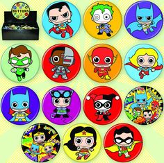 New DC Comics Buttons Available in November