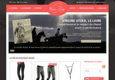 Boutique e-commerce Équi-Bride, sellerie spécialisée en endurance. Site réalisé par StartUp sous e-majine. www.equi-bride.com