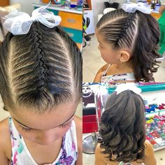 Untitled Girl Hairstyles, Braided Hairstyles, Hair Due, Toddler Hair, Love Hair, To My Daughter, Short Hair Styles, Hair Makeup, Braids