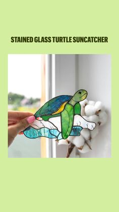 Custom Stained Glass, Suncatchers, Turtle, Paper, Tiffany, Fictional Characters, Design, Art, Bees