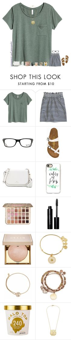 """✧ announcing winners this weekend"" by preppiness-and-pineapples ❤ liked on Polyvore featuring J.Crew, Ray-Ban, Birkenstock, Kate Spade, Casetify, Too Faced Cosmetics, Bobbi Brown Cosmetics, Stila, Alex and Ani and Disney"
