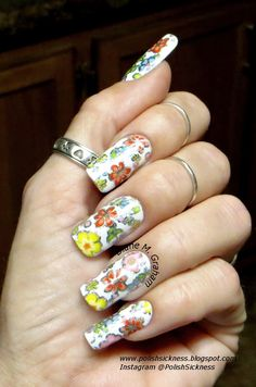 Flower nail foil, Square Hue WL Wet Look Too topcoat