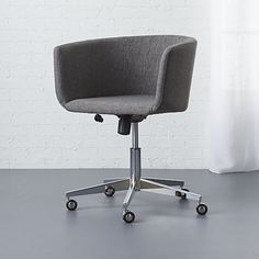 Helvetica Desk Chair Salt + Pepper Tweed (Blackened Bronze Base) | Office spaces Living rooms and Desks & Helvetica Desk Chair Salt + Pepper Tweed (Blackened Bronze Base ...