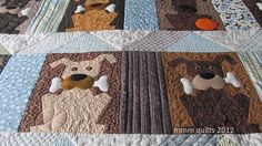 ha, I LOVE the quilted ball on the bottom left dog!  --  mmm quilts