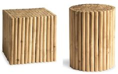 Modern Bamboo Stools for the Bathroom | Home Interior Design Themes