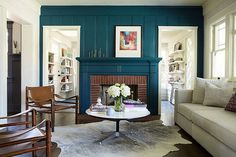 Lindsay & Drew: Accent Color on Trim...