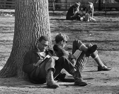 """André Kertész 1969 """"Washington Square - New York""""  from """"On Reading"""" 1971"""