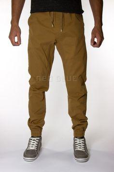 Camel Twill Jogger Pants