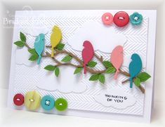 FS327 Buttons and Birds by bfinlay - Cards and Paper Crafts at Splitcoaststampers