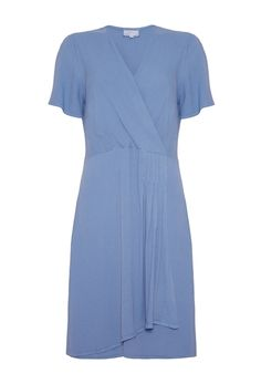 Sallyann Dress Coloney Blue.Bridesmaids dress with a delicate 40s feel.Perfect with updo and a posy.