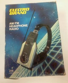 Electro-Brand-AM-FM-Mini-Headphone-Radio-Model-Number-218-Vintage-1980s-red