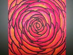 4th GRADE--Geogia O'keeffe Flowers - Fabulous Art teaching ideas here!!!!