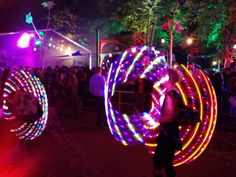 It's like magic! Handmade LED Polypro Travel Hula Hoops in several pattern! http://de.dawanda.com/shop/LEDHoops