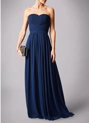 Navy strapless sweet heart rouched top prom dress. #prom #navy #chiffon  #strapless #sweetheart #promdress #nighttoshine #prom2018 #adeavabridal