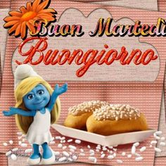 Immagine di Buonanotte da Scaricare Gratis - BuongiornoSpeciale.it Bon Mardi, Smurfs, Facebook, Gif, Cards