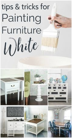 Painting furniture white can be surprisingly tricky if you don't know what you are doing. These tips and tricks will show you exactly how to paint furniture white with zero yellowing or bleed-through. Find out the best white chalk paints for furniture and the exact furniture painting process to use to get beautiful results. White Painted Furniture, Painted Chairs, Chalk Paint Furniture, Types Of Furniture, Furniture Ideas, White Chalk Paint, Painting Process, Learn To Paint, Furniture Makeover