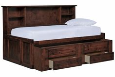 Sedona Twin Roomsaver Bed W/2- Drawer Captains Trundle - Signature