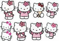 Hello Kitty Set of 9 - http://www.vinyl-decals.com/hello_kitty_set_of_9-CC-Hello-Kitty-set.php