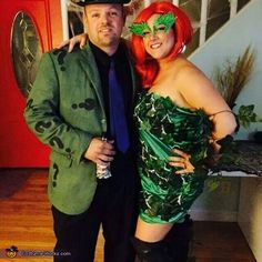 Poison Ivy and the Riddler - 2015 Halloween Costume Contest via @costume_works
