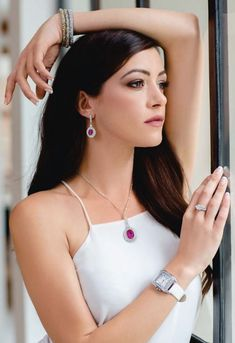 Silver-tone oval shape pendant with pink centre stone and surrounding clear crystals. Size: Width: Drop Length: Chain Length: Packaging: Each Cazabella piece comes packaged in a satin pouch. Oval Shape, Clear Crystal, Daniel Wellington, Centre, Fashion Accessories, Pouch, Packaging, Satin