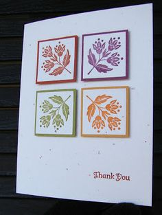 Nutty for Stampin': Fall Thank you using Day of Gratitude