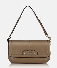 Giorgio Agnelli top handle pouch [GA 63011 Khaki] A light pretty functional pouch design   Leather Bag, Pouch, Handle, Pretty, Top, Bags, Design, Fashion, Handbags