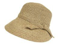 Cute Packable Straw Sun Hat for Women - Great for Gardening, Beach, Travel - Cloche Style from Fashion's Little Helpers